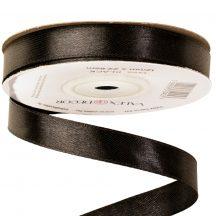 Szatén szalag 12mm x 22,86m - Fekete