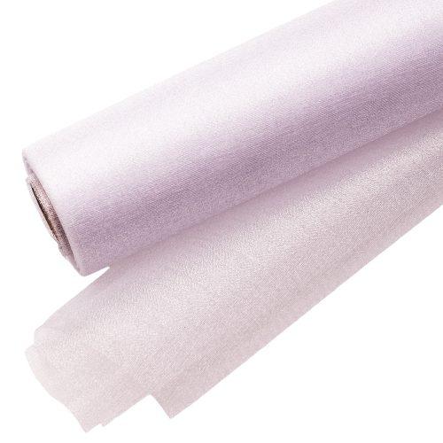 Csillogó fényű organza dekoranyag 23,5cm - Fehér