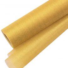 Csillogó fényű organza dekoranyag 23,5cm - Arany