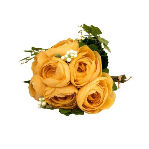 7 ágú boglárka selyemvirág csokor - Sárga