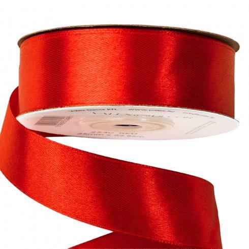 Szatén szalag 25mm x 22,86m - Piros