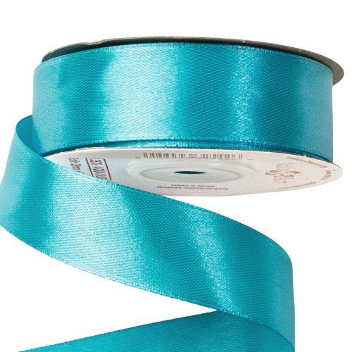 Szatén szalag 25mm x 22.86m - Aqua kék