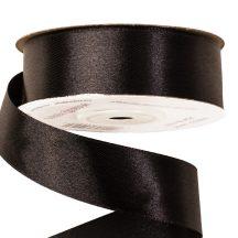 Szatén szalag 25mm x 22,86m - Fekete