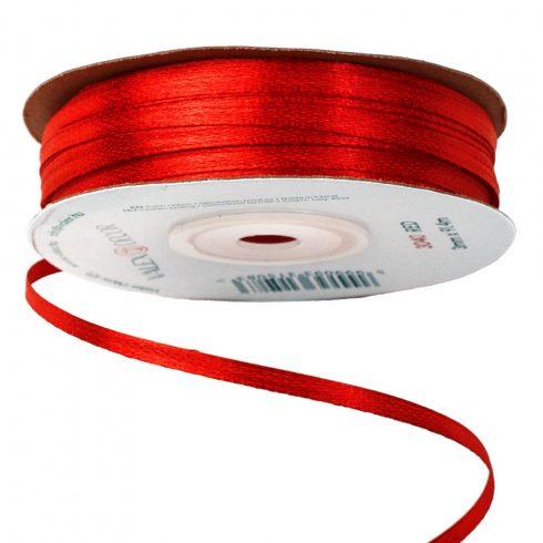 Szatén szalag 3mm x 91.44m - Piros