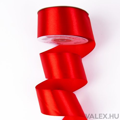 Szatén szalag 38mm x 22.86m - Piros