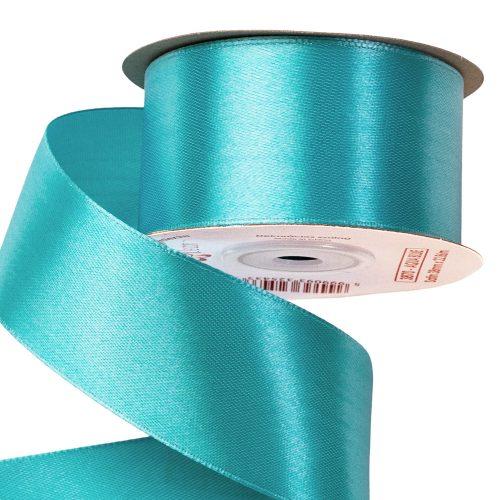 Szatén szalag 38mm x 22.86m - Aqua kék
