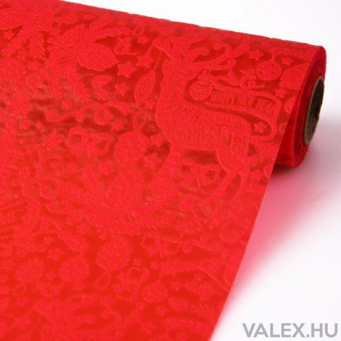 Karácsonyi 3D vetex 50cm x 4.5m - Piros