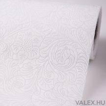 3D virágmintás vetex 50cm x 4,5m - Fehér