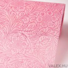 3D virágmintás vetex 50cm x 4,5m - Rózsaszín