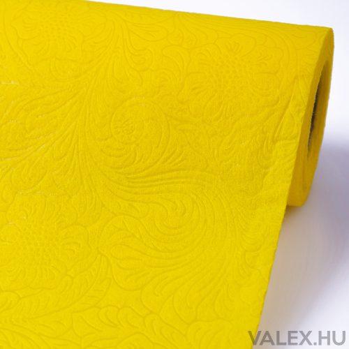 3D virágmintás vetex 50cm x 4.5m - Sárga