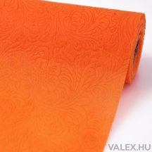 3D virágmintás vetex 50cm x 4,5m - Narancssárga