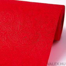 3D virágmintás vetex 50cm x 4,5m - Piros