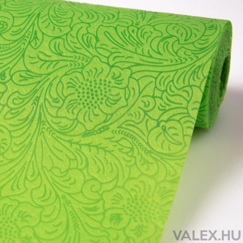 3D virágmintás vetex 50cm x 4.5m - Almazöld