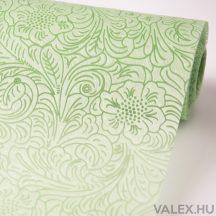 3D virágmintás vetex 50cm x 4.5m - Világos zöld