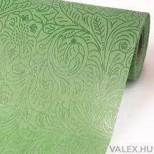 3D virágmintás vetex 50cm x 4,5m - Olivazöld