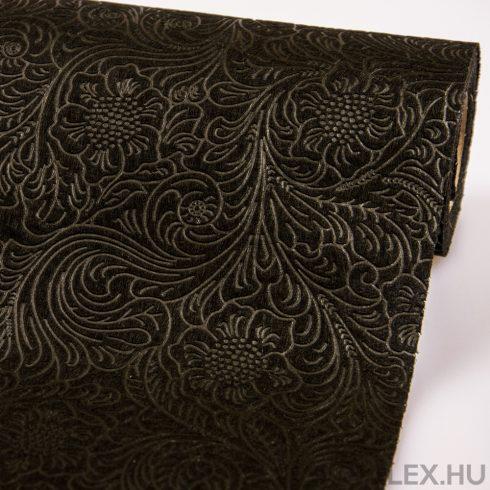 3D virágmintás vetex 50cm x 4,5m - Fekete
