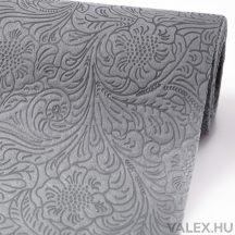 3D virágmintás vetex 50cm x 4.5m - Ezüst