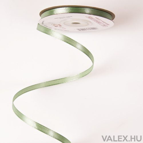 Szatén szalag 6mm x 22.86m - Vintage Zöld