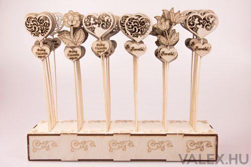 Pálcás dekor 5.5 x 27cm - 48db.-os display - Valentin