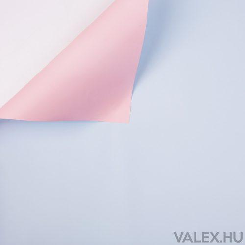 Kétszínű fólia tekercs 58cm x 10m - Rózsaszín / Kék