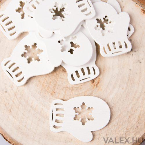 10db.-os karácsonyi dekor (kb. 6cm) - Téli kesztyű
