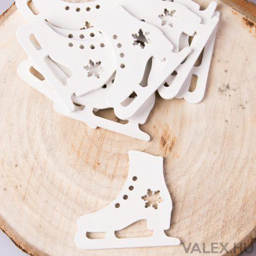 10db.-os karácsonyi dekor (kb. 6cm) - Korcsolya