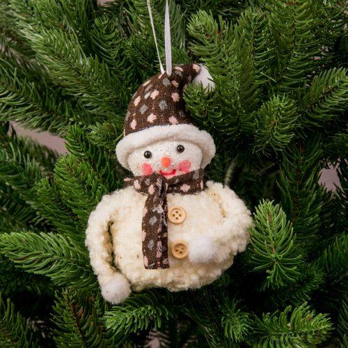 Karácsonyfadísz 13cm x 10cm - Hóemberke