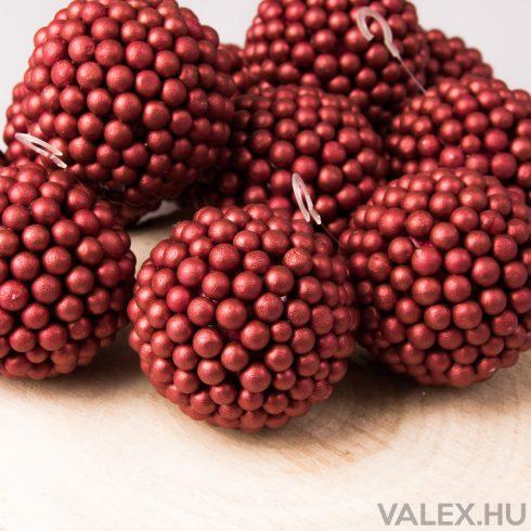 12db. Karácsonyi dekor gömb 6.5cm - Piros