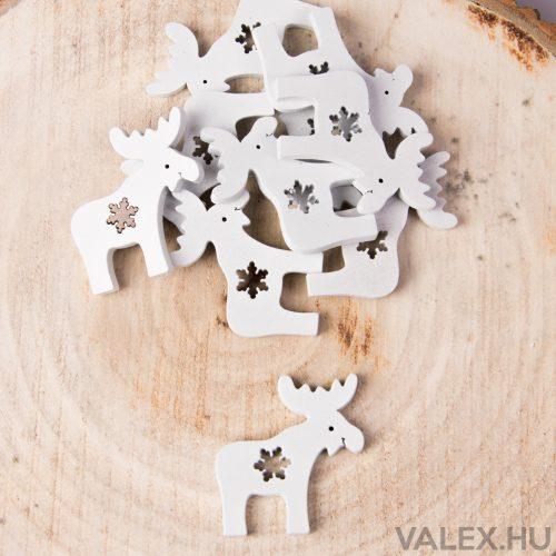 10db.-os karácsonyi fa dekor (kb. 4cm) - Szarvas #2