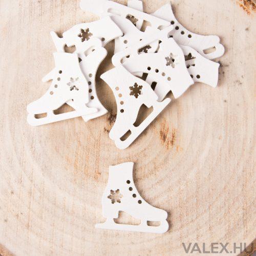 10db.-os karácsonyi fa dekor (kb. 4cm) - Korcsolya