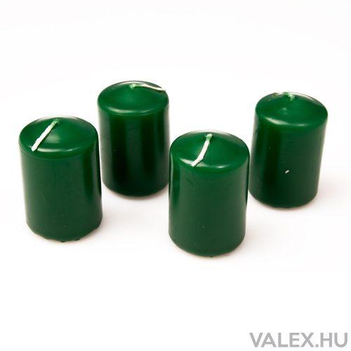 Fenyő illatú, sötét zöld adventi gyertya  5.5cm x 4cm