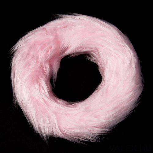 Szőrmés koszorú alap 20cm - Rózsaszín