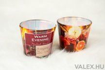 """""""Warm Evening"""" forró tea illatgyertya, poharas illatmécses"""