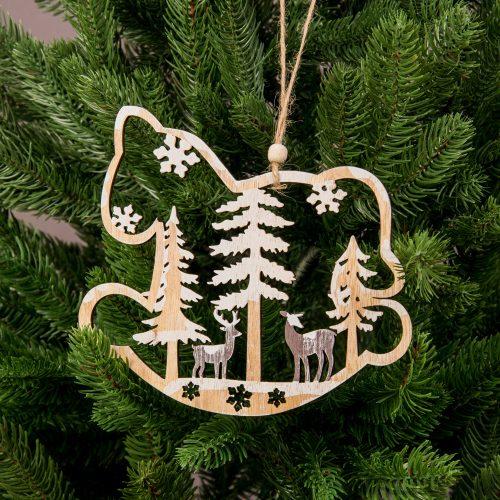 Karácsonyfadísz 16 x 15cm - Fa hintaló