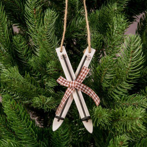 Karácsonyfadísz 12cm - Fehér síléc