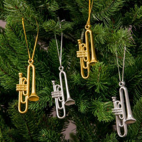 4db. trombita karácsonyfadísz 7.5cm