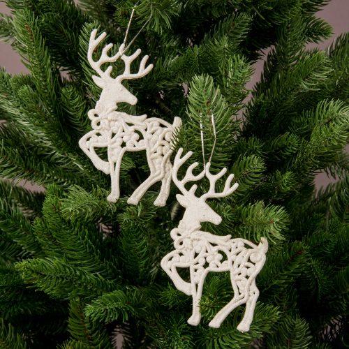 2db. Szarvas karácsonyfadísz 14cm x 7cm