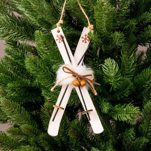 Fa síléc karácsonyfadísz 20cm