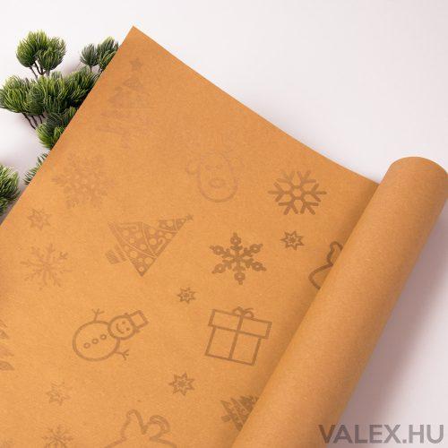 Arany fenyőfás kraft papír 61 x 43cm (20db.)