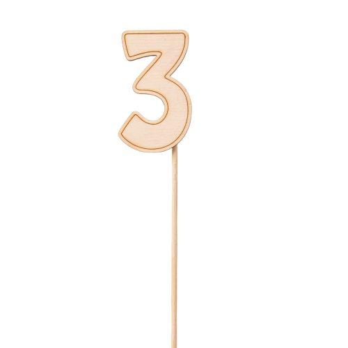 Pálcás szám betűző 3.5 x 29cm - 3