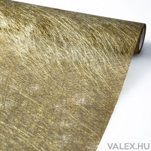 Metál vetex csomagoló 50cm x 4.5m - Arany