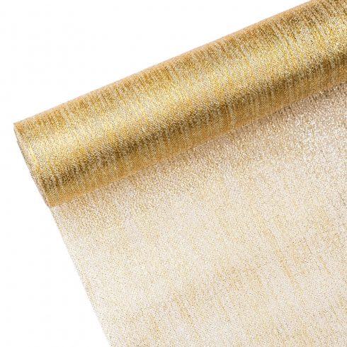 Metál szövet 36cm x 5m - Arany