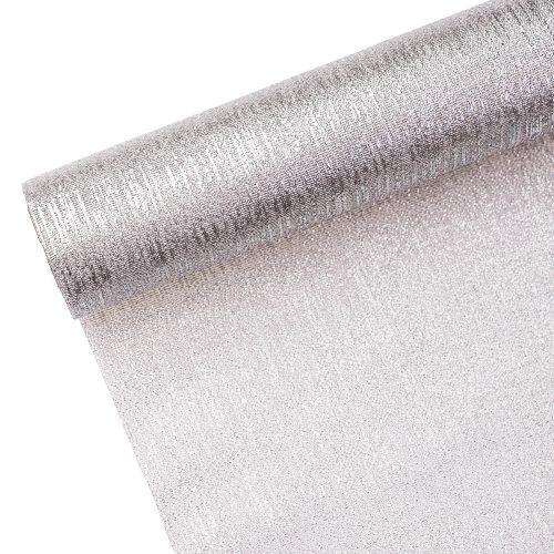 Borneo metál szövet 36cm x 5m - Ezüst