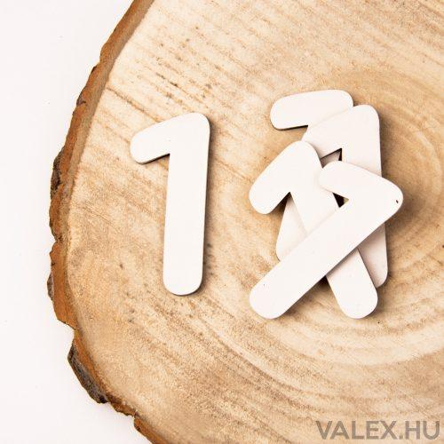 5 db. festett fa dekor szám 6cm - 1