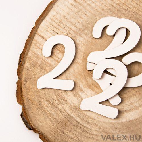 5 db. festett fa dekor szám 6cm - 2