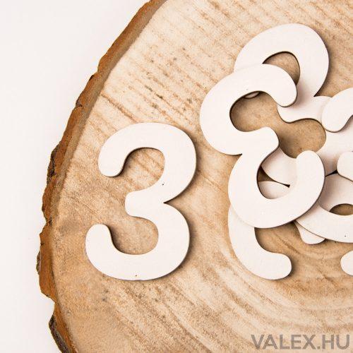 5 db. festett fa dekor szám 6cm - 3
