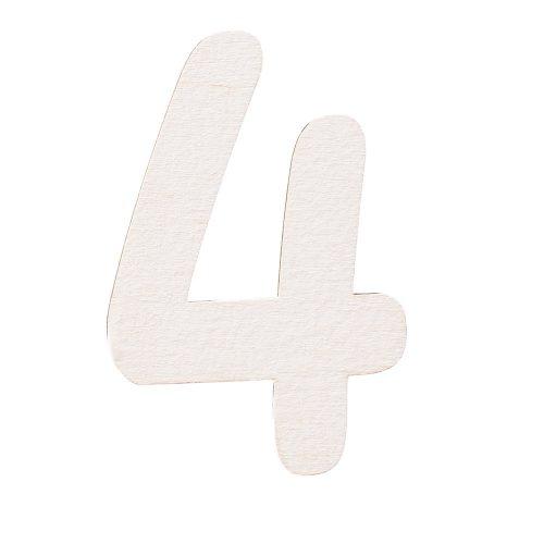 5 db. festett fa dekor szám 6cm - 4