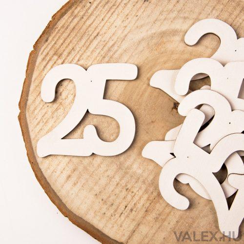 5 db. festett fa dekor szám 6cm - 25