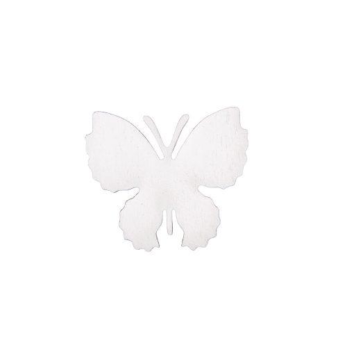 10db. festett fa pillangó 4 x 3.5cm - Fehér