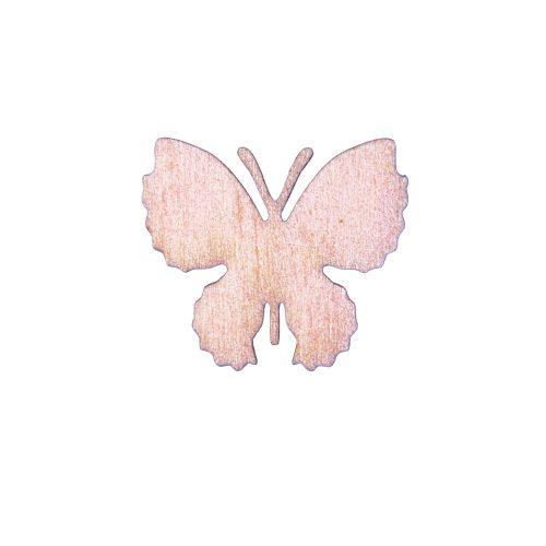 10db. festett fa pillangó 4 x 3.5cm - Pezsgő